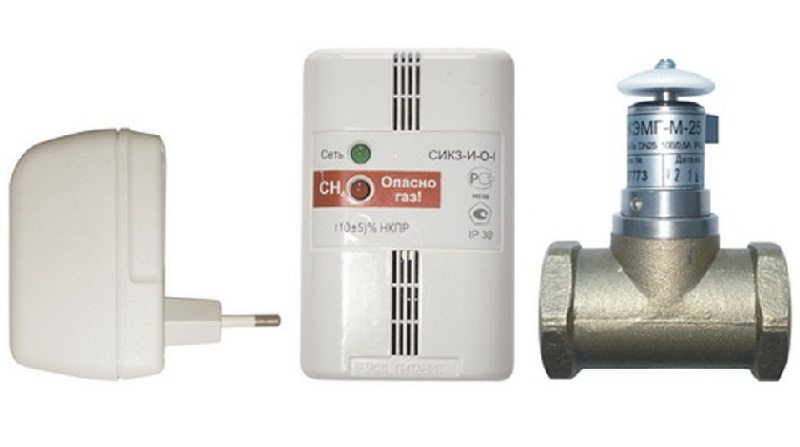 Сигнализатор загазованности на метан (пропан, бутан) СИКЗ-25 с клапаном КЭМГ-25