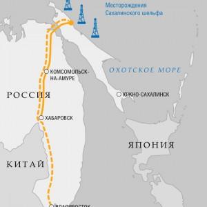 Запуск газопровода Сахалин-Хабаровск-Владивосток