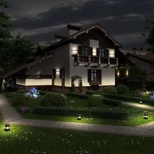 Освещение дома и сада