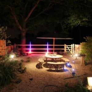 Освещение садовой площадки